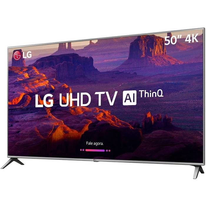 "TV LG UHD 55"" Q6FN - Tizen Conversor Digital Modo Ambiente Linha 2018"